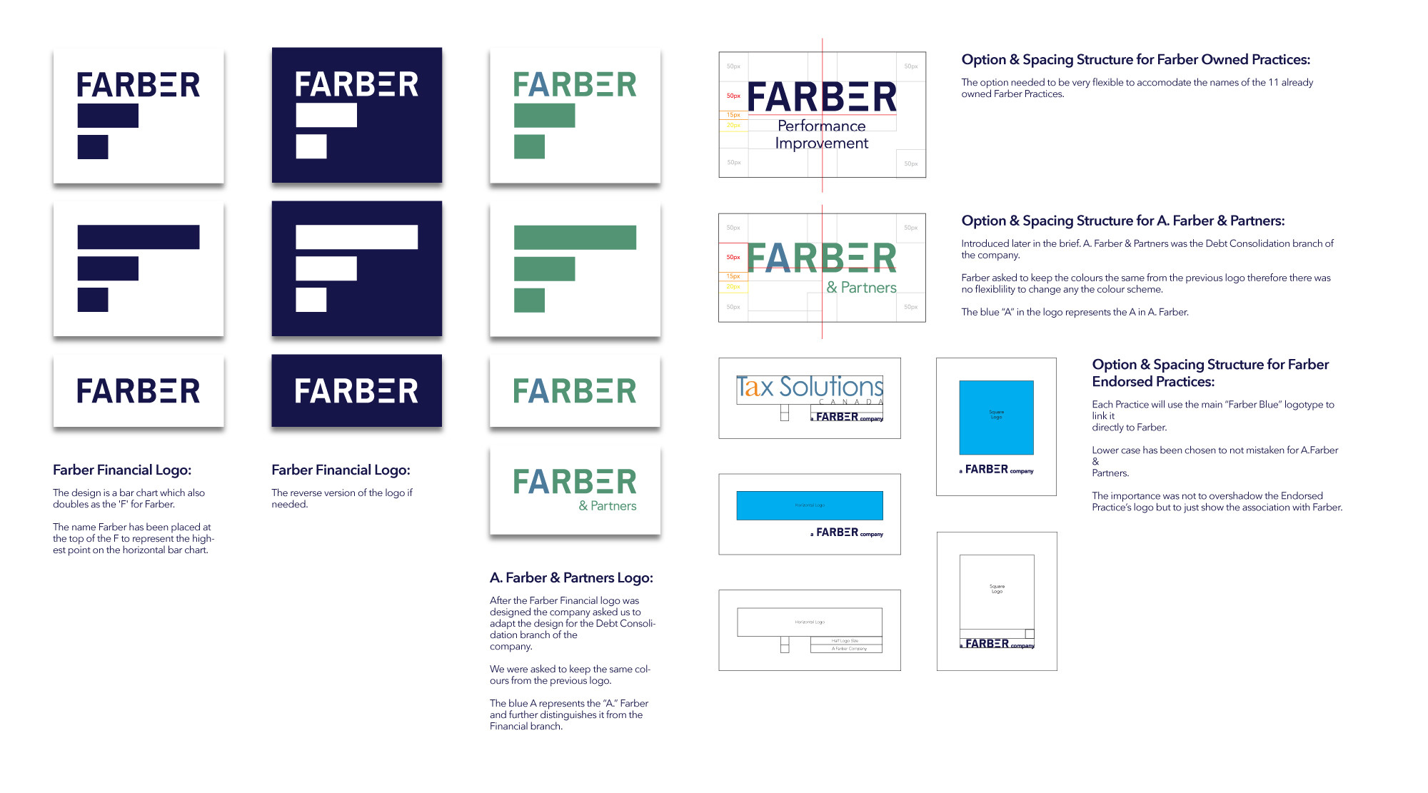 Farber Financial Logo Designs - Junior Wolf