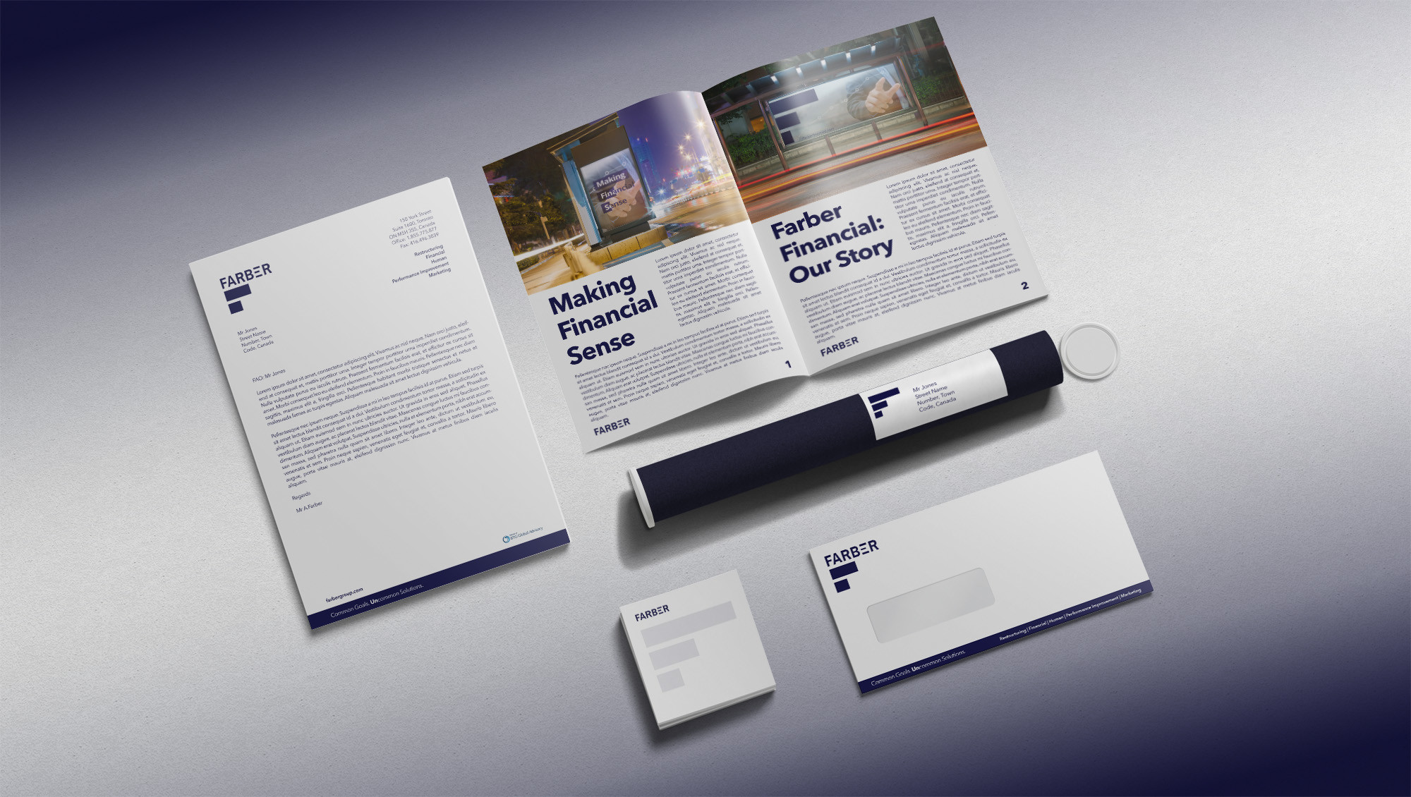 Farber Financial Stationary